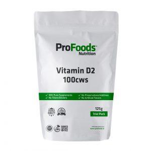 Vitamin D2 100cws Powder 125g Front