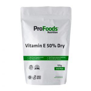 Vitamin E 50% Dry Powder 125g Front